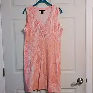 Pink/orange/white sleeveless dress